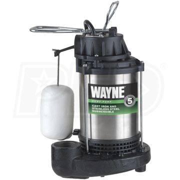 WAYNE 3/4HP Stainless Steel Sump Pump